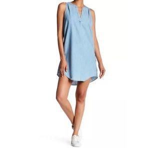 Soft JOIE Crissle Chambray Sleeveless Shift Dress